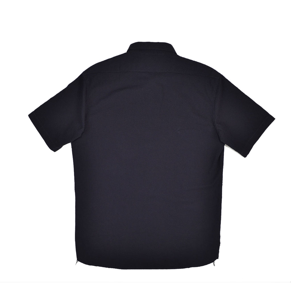 S/S SEERSUCKER SHIRT - NAVY