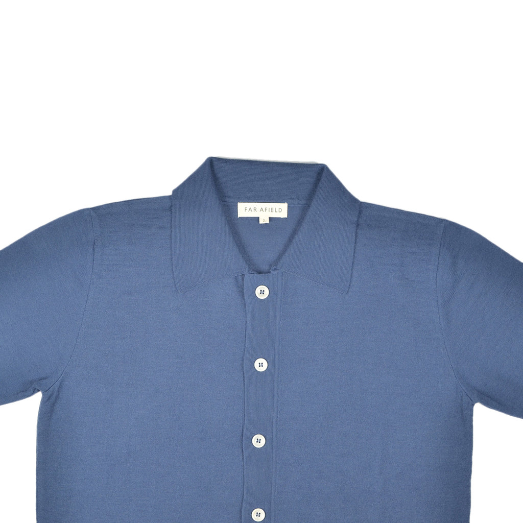 FAR AFIELD VELZY S/S CARDIGAN - ENSIGN BLUE