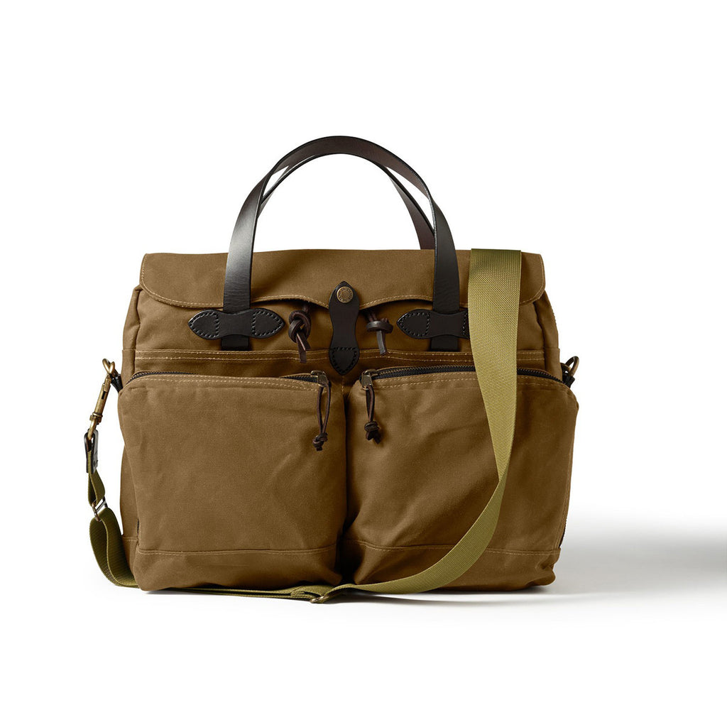 FILSON 24HR TIN CLOTH BRIEFCASE - TAN