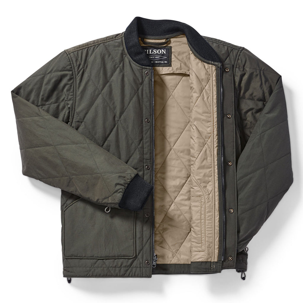 QUILTED PACK JACKET - DARK OTTER GREEN