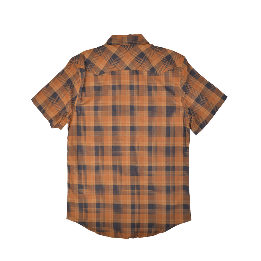 S/S SNAP FRONT GUIDE SHIRT - BRONZE & NAVY