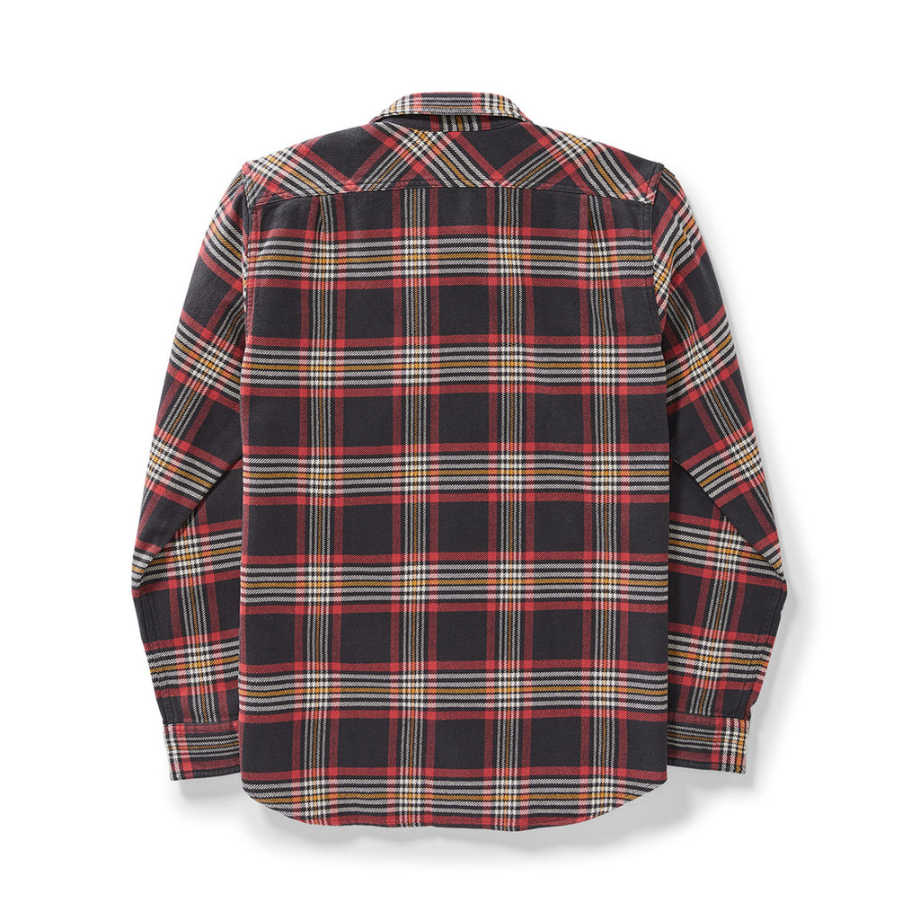 VINTAGE FLANNEL WORK SHIRT - BLACK, RED & GOLD