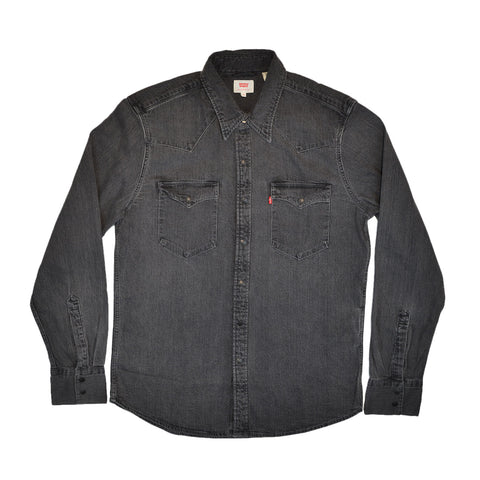 BARSTOW WESTERN SHIRT - BLACK WORN IN
