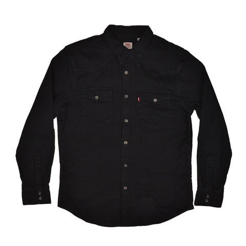 BARSTOW WESTERN SHIRT - MARBLE BLACK DENIM BLACK