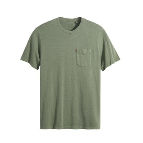 LEVI'S RELAXED FIT POCKET TEE GARMENT DYE - HEDGE