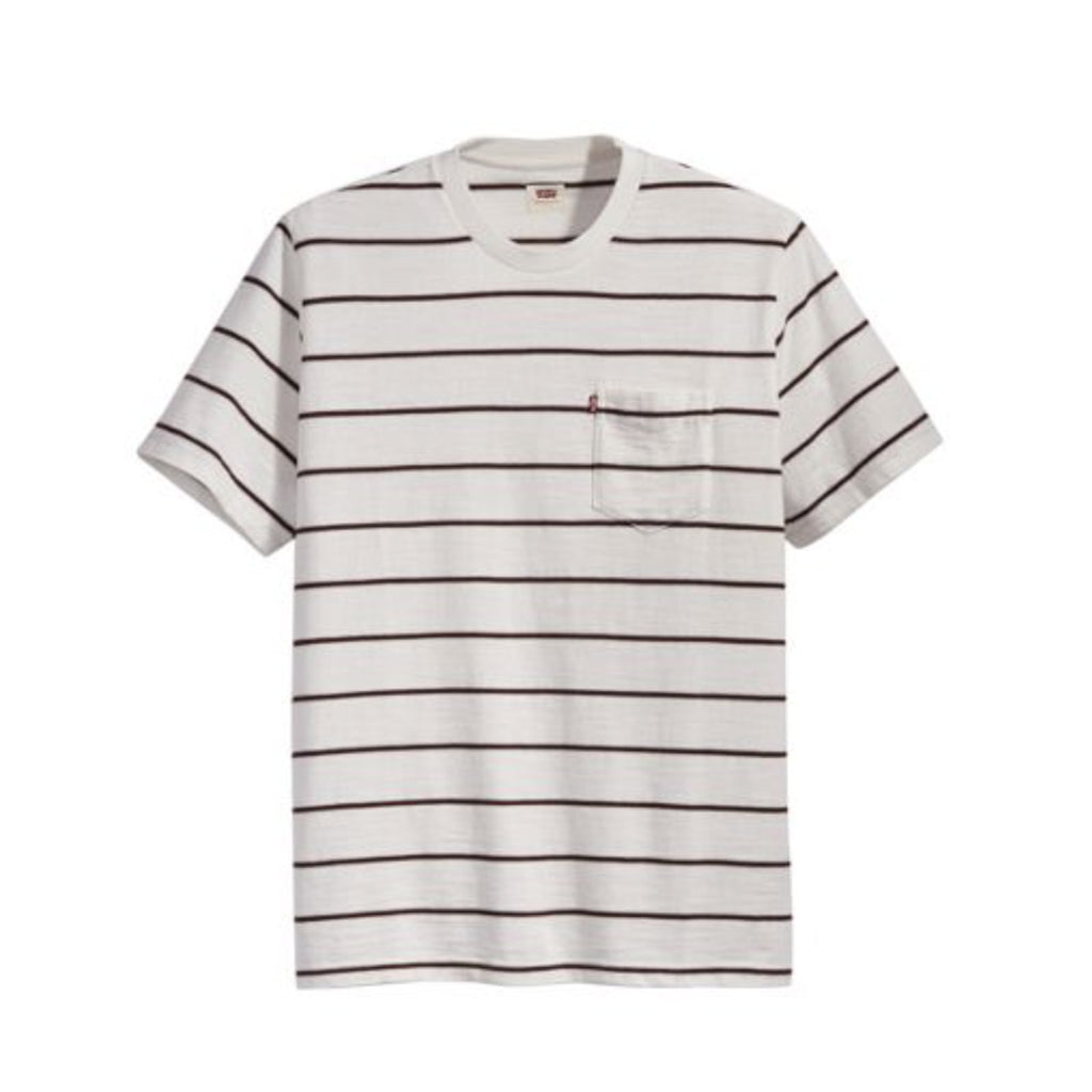RELAXED FIT POCKET TEE - SATURDAY STRIPE