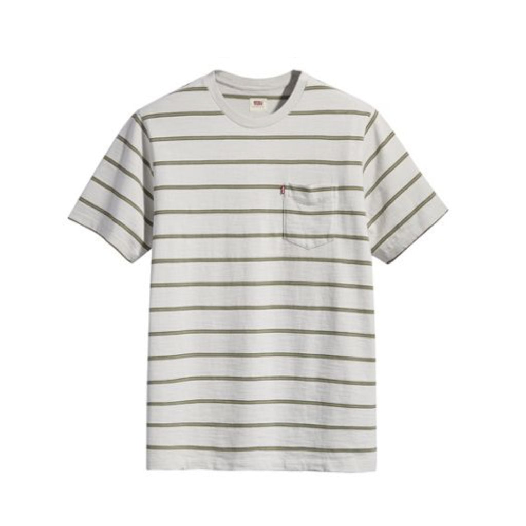 RELAXED FIT POCKET TEE - WEEKEND STRIPE