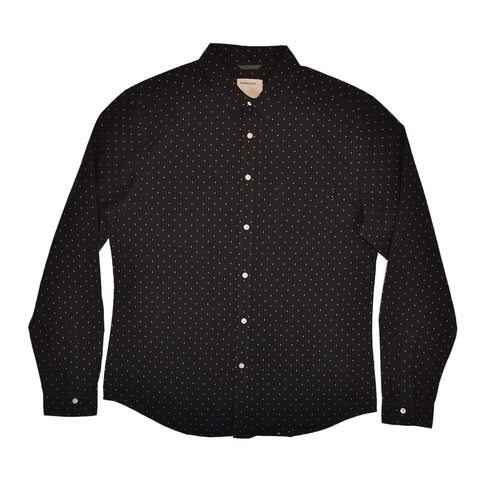 TRAFALGAR SQUARE DOBBY SHIRT - BLACK