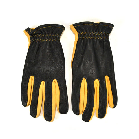 NAPA DRIVER GLOVES UNLINED - BLACK & GOLD