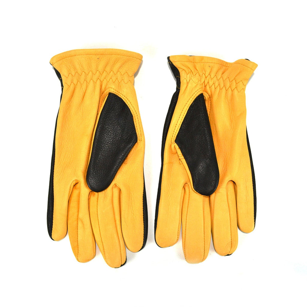 DRIVER GLOVES UNLINED - BLACK & GOLD