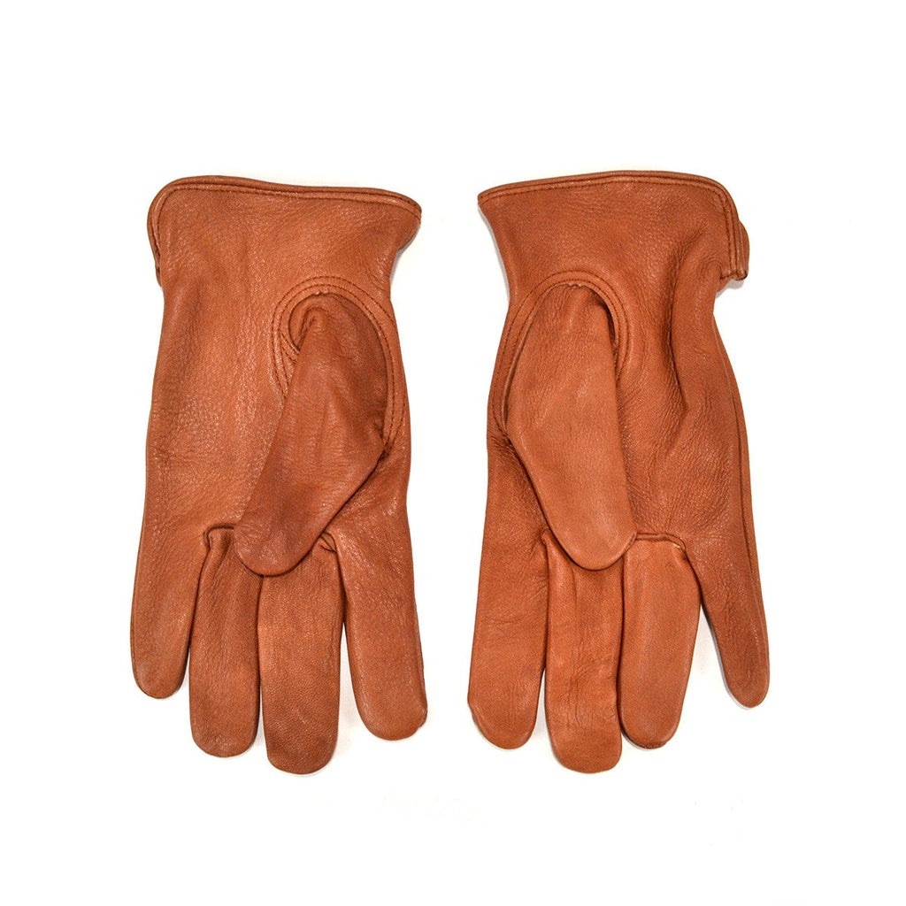 NAPA DEERSKIN DRIVER UNLINED GLOVES - BROWN