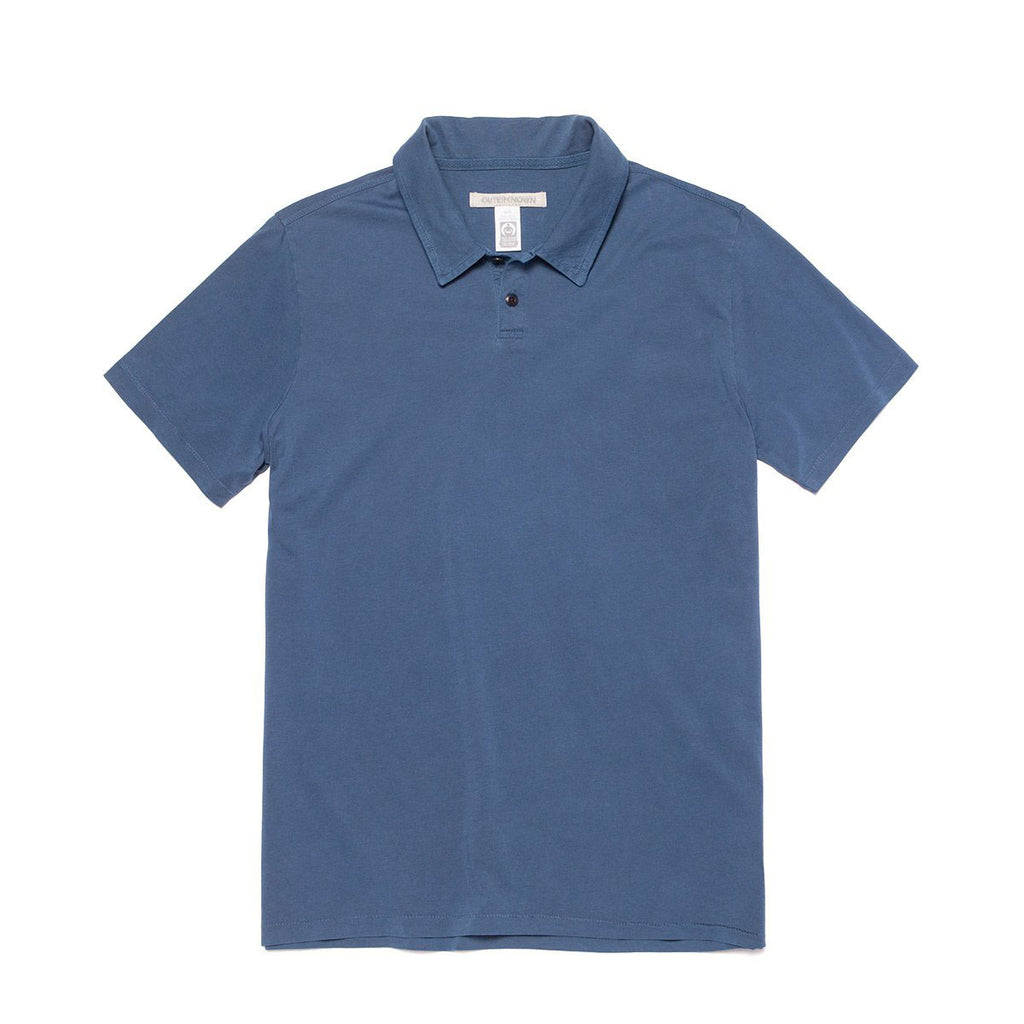 OUTERKNOWN DUNE JERSEY POLO - PACIFIC