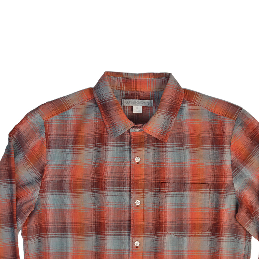 OUTERKNOWN HIGHLINE SHIRT - BURNT SUNDOWN PLAID