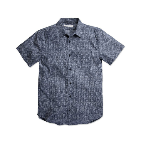 OUTERKNOWN S.E.A. S/S SHIRT - MARINE AIRY DOTS