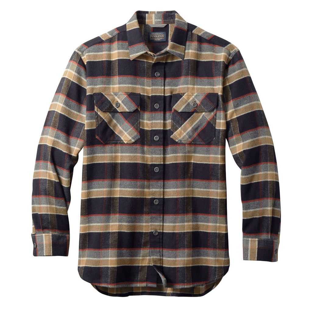 BURNSIDE TWILL - BLACK & TAN PLAID