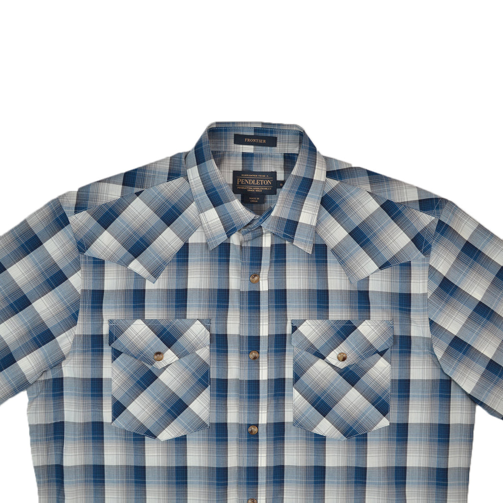 S/S FRONTIER - BLUE & GREY PLAID