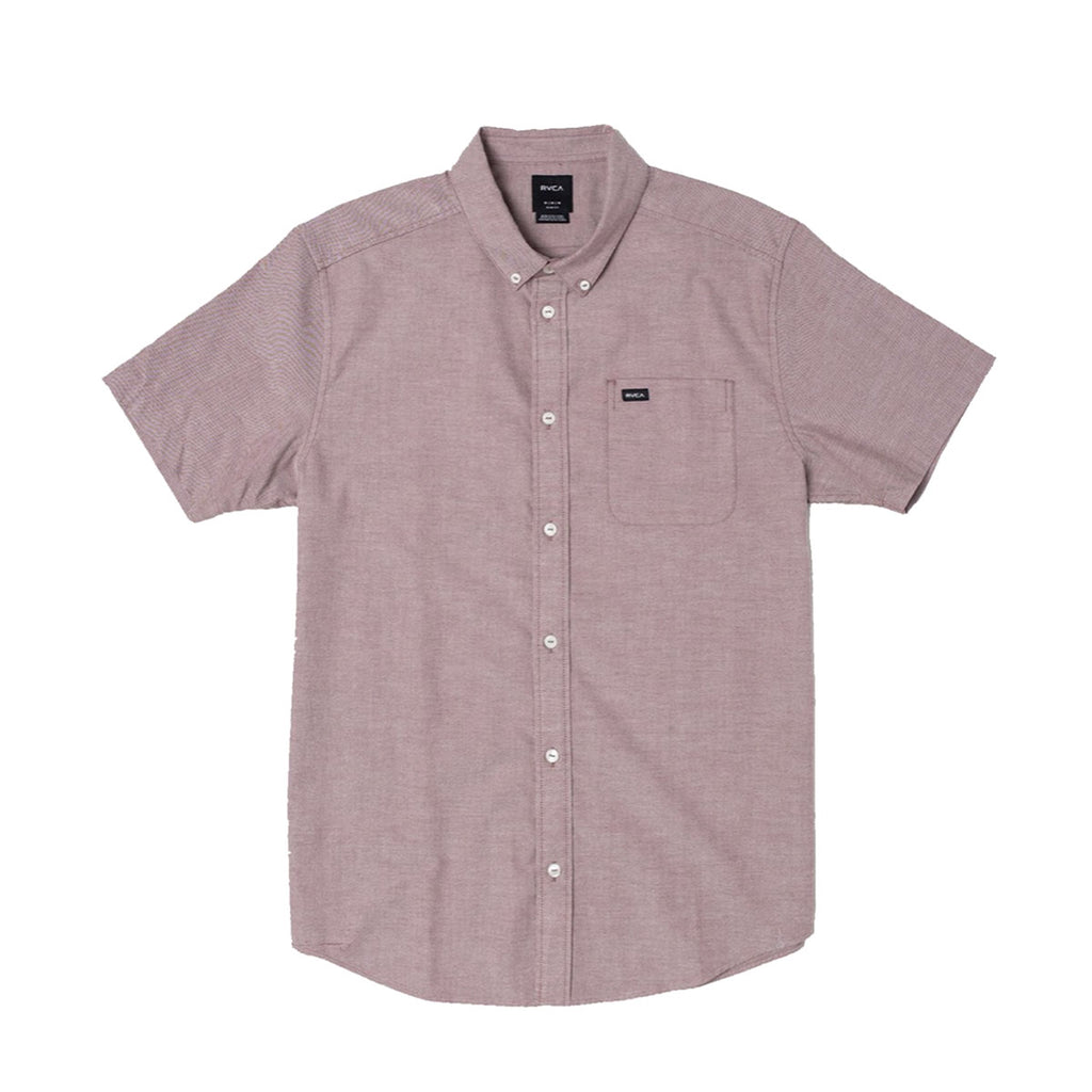 RVCA THAT'LL DO STRETCH S/S SHIRT - OXBLOOD RED