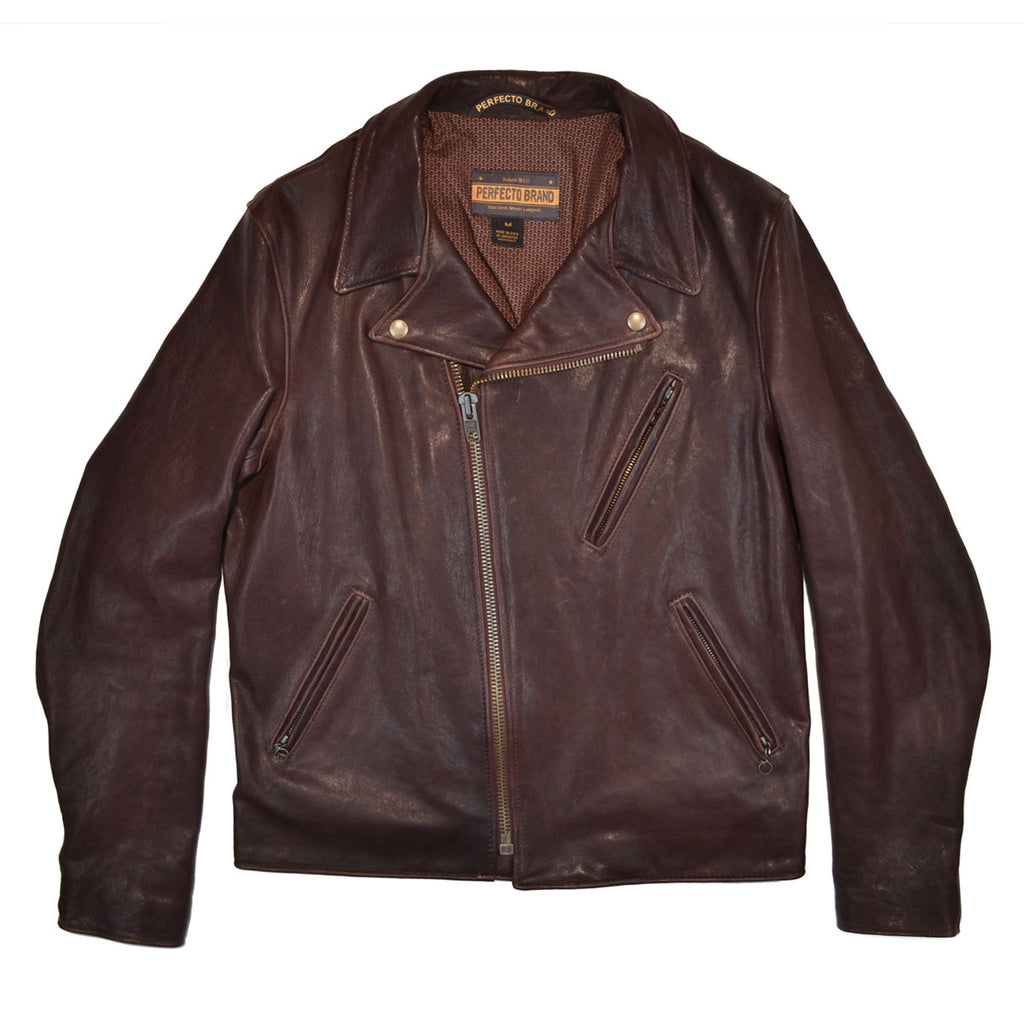 RAVEN - LAMBSKIN PERFECTO® JACKET - BROWN