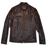 SCHOTT NYC MISSION P571 UNLINED CAFE JACKET - BROWN