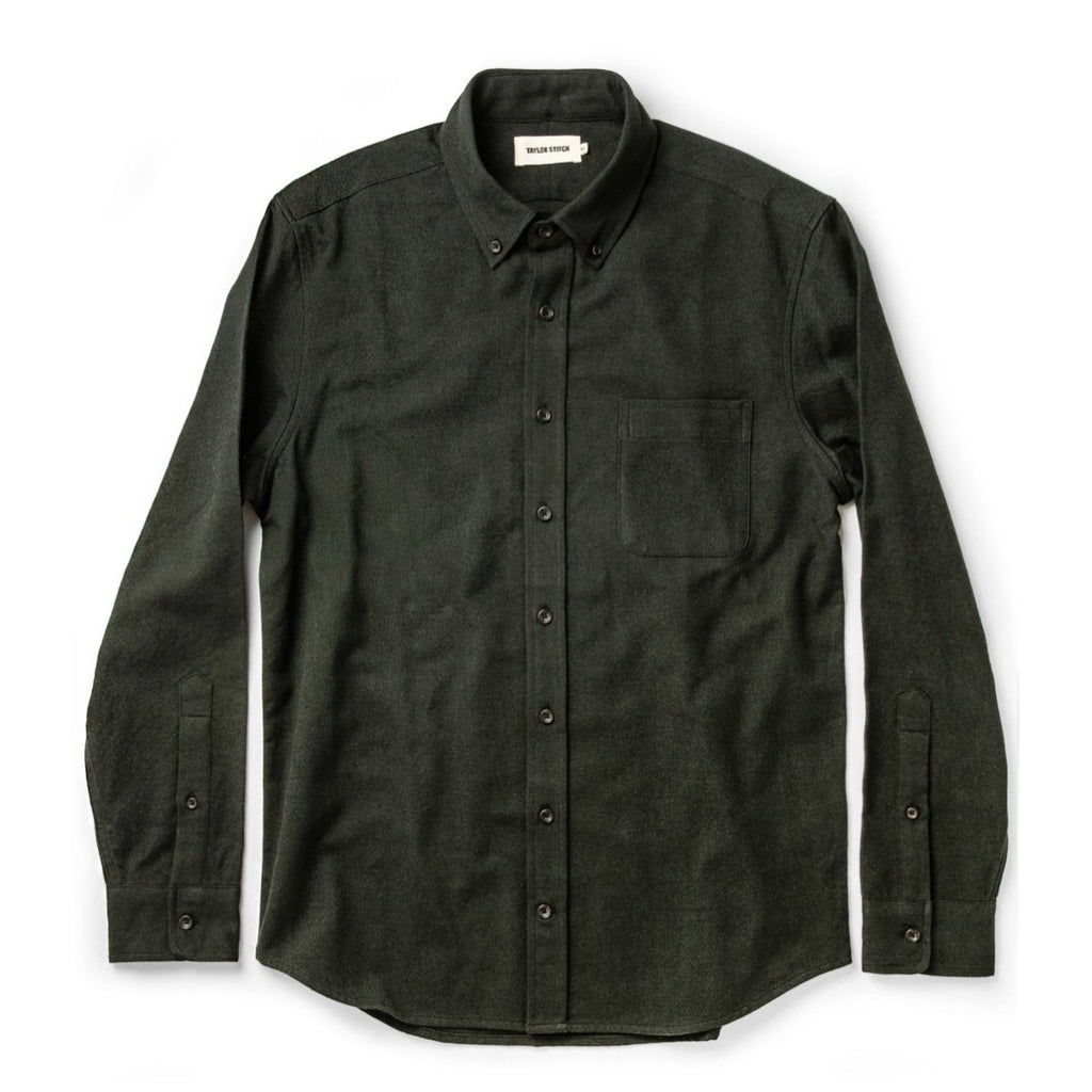 TAYLOR STITCH THE JACK SHIRT L/S - BRUSHED FOREST OXFORD