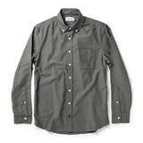 TAYLOR STITCH THE JACK SHIRT L/S - CHARCOAL CREPE