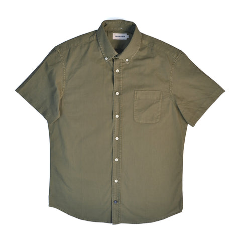 TAYLOR STITCH THE SHORT SLEEVE JACK SHIRT - CACTUS OXFORD