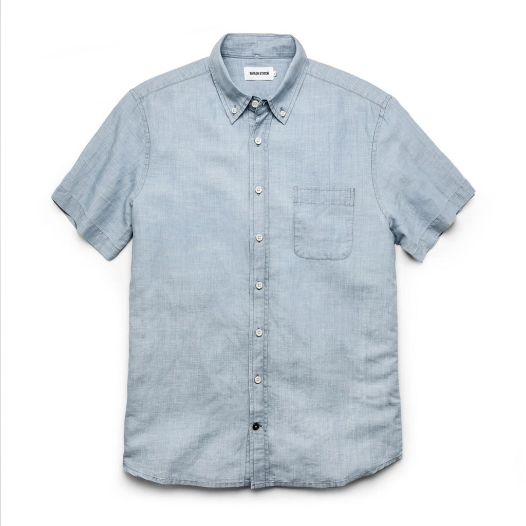 TAYLOR STITCH THE SHORT SLEEVE JACK SHIRT - SUN BLEACHED LINEN