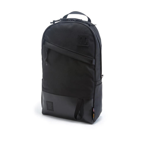 DAY PACK - BALLISTIC BLACK / BLACK LEATHER