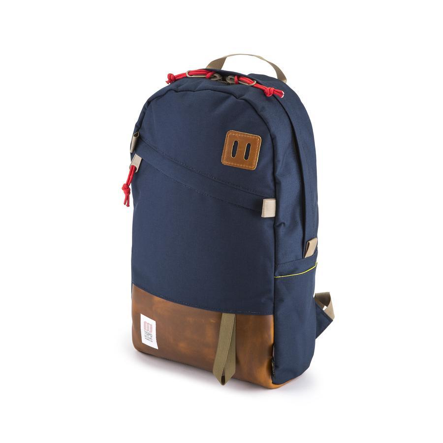 DAYPACK - NAVY / BROWN LEATHER