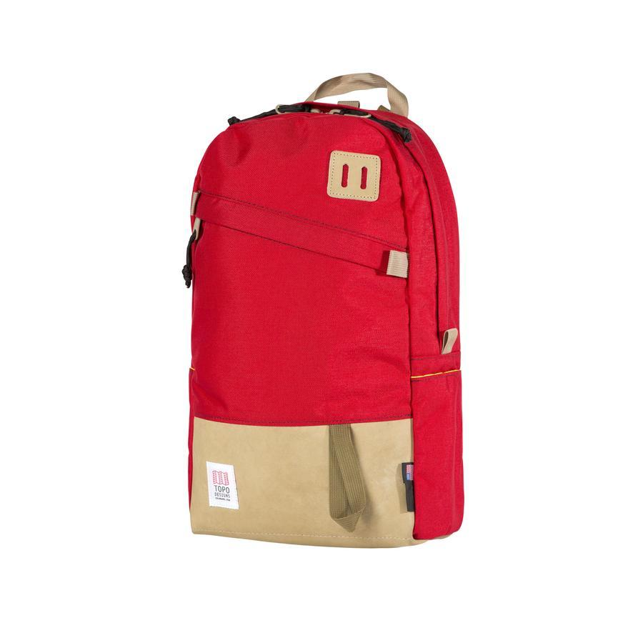 DAY PACK - RED / KHAKI LEATHER