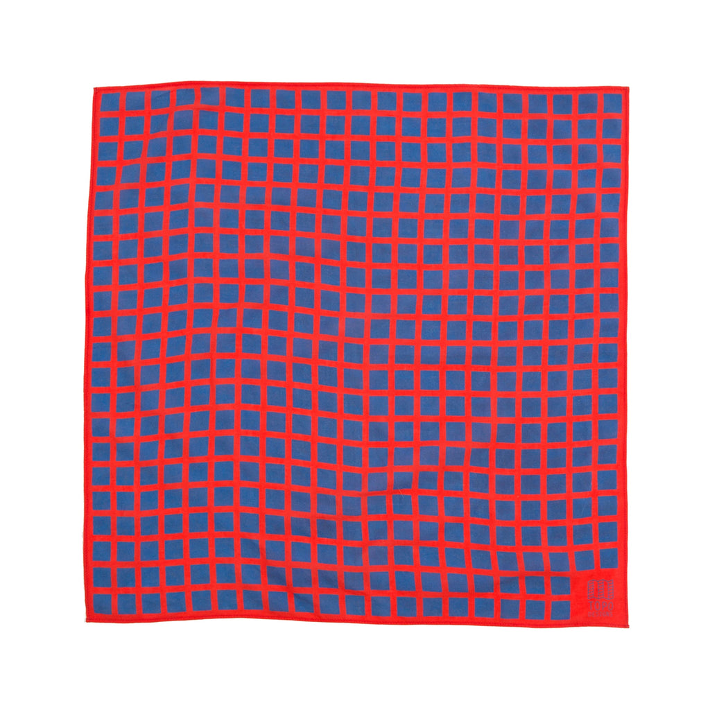 TOPO DESIGNS BANDANA - RED GRID