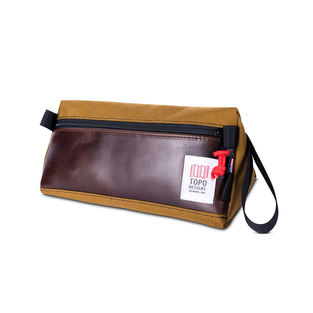 TOPO DESIGNS DOPP KIT - DUCK BROWN & DARK BROWN LEATHER