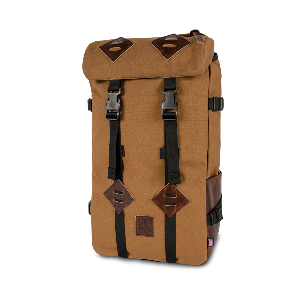 KLETTERSACK HERITAGE CANVAS - DARK KHAKI CANVAS & DARK BROWN LEATHER