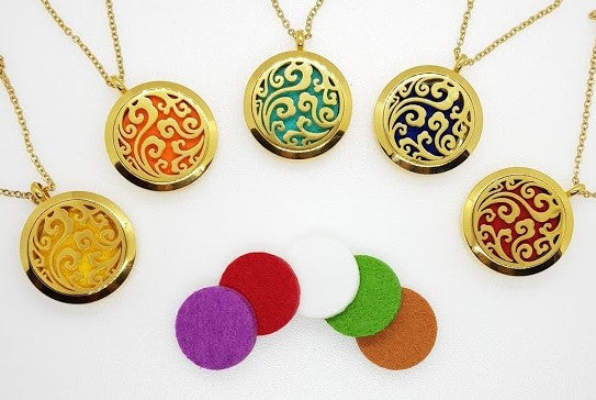 Gold Aromatherapy Diffuser Necklace
