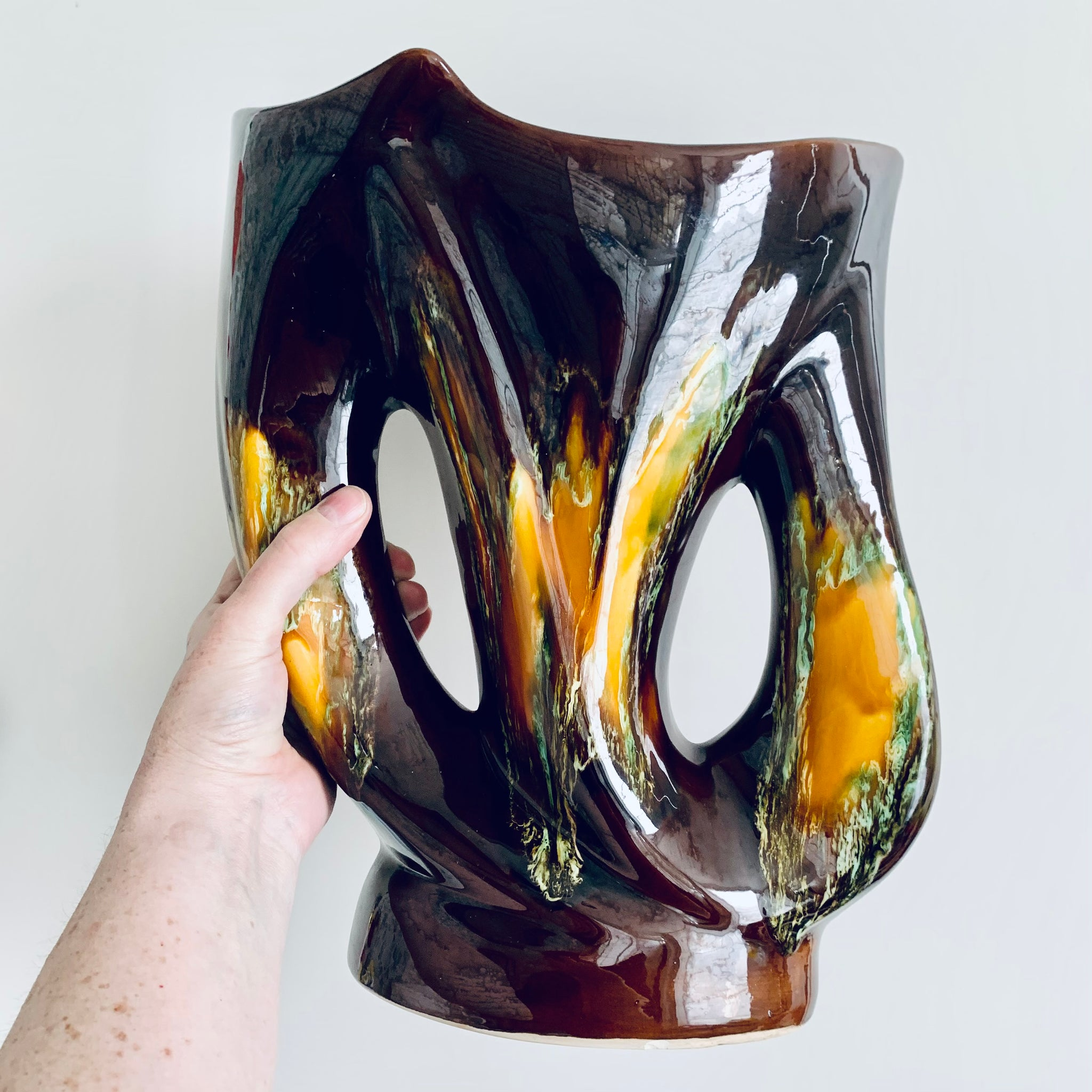 French brutalist vase