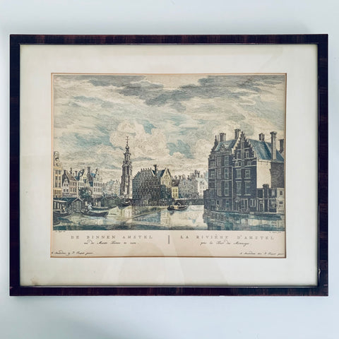Copper engraved picture of Amsterdam