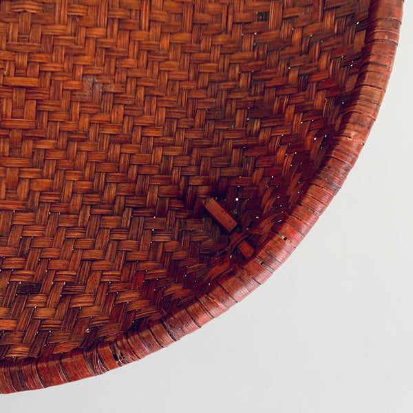 Low bamboo basket