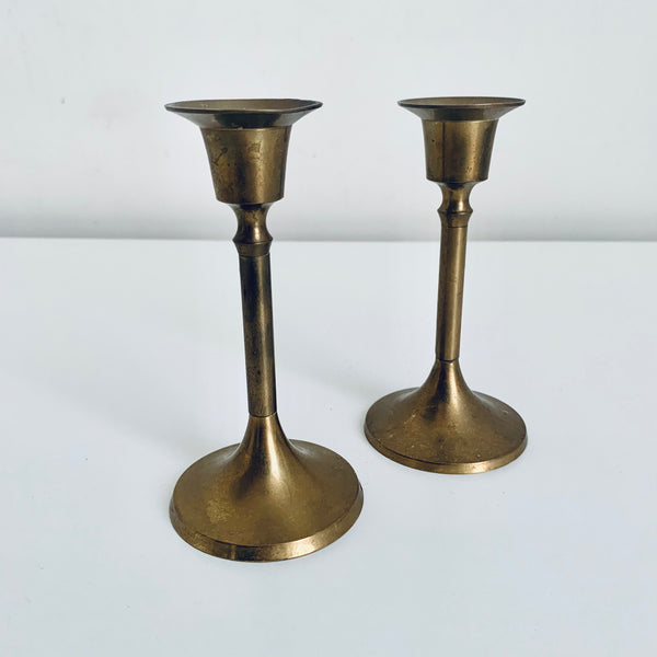 Brass candle holders (2)