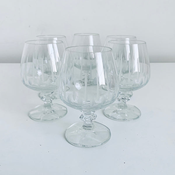 Engraved mid century glasses (6)