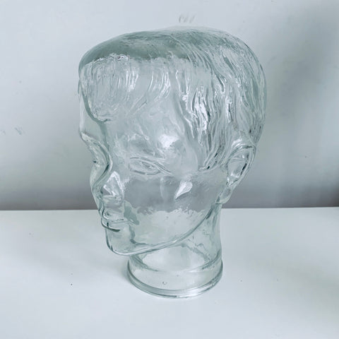 Glass boys mannequin head
