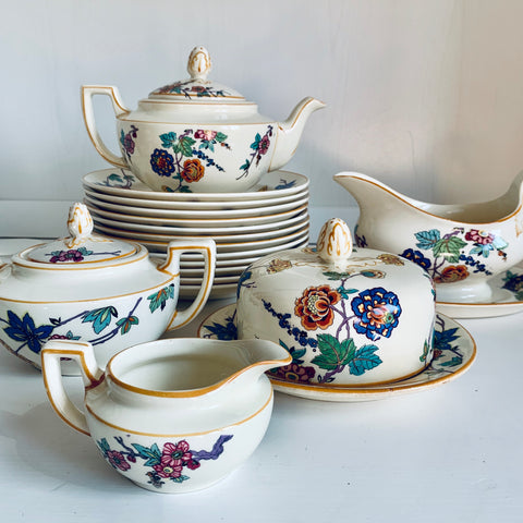 Breakfast tea set with 12 plates