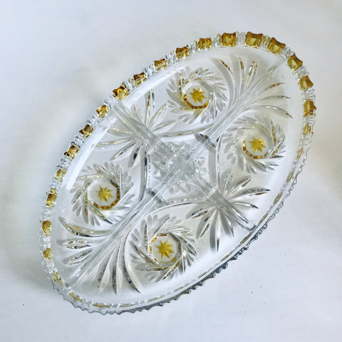 Crystal serving dish - Walther glass - Germany