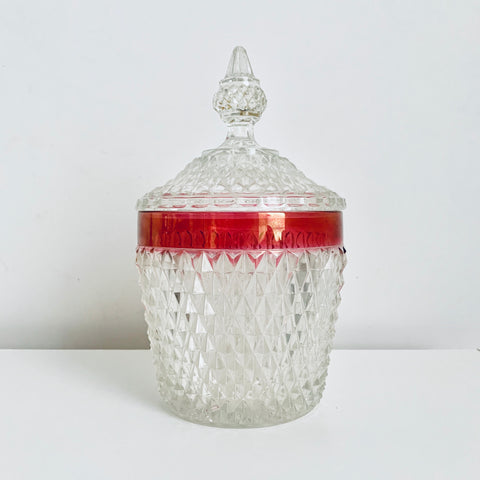 Crystal candy or cookie jar (large)