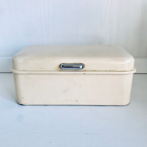 Metal cake or lunch box (off white)