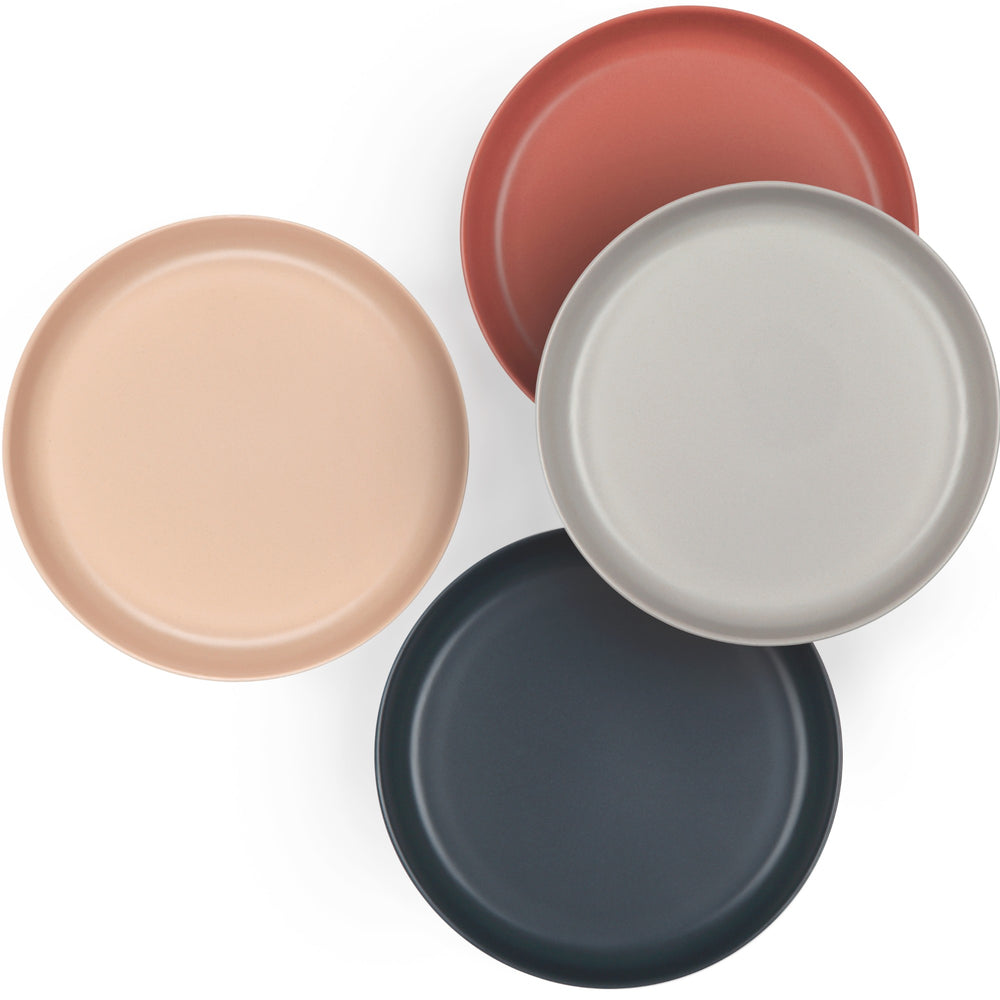 Bamboo Small Plate Set SCANDI | Blush, Cloud, Storm, Terracotta