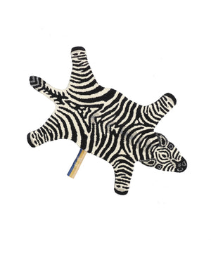 Load image into Gallery viewer, Chubby Zebra Wool Rug small