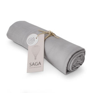 Load image into Gallery viewer, Organic Swaddle in Silver Grey by SAGA Copenhagen