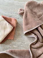 Organic Cotton Bear Terry Towel | Beige Tan