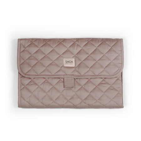 Organic Changing Quilt Pad in Mauve by SAGA Copenhagen