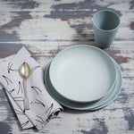 Bamboo Dinner Set in 'Glass Slipper' by Fable PALETTE COLLECTION